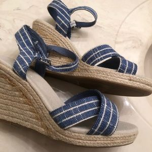 New blue pinstripes Nautical Espadrilles